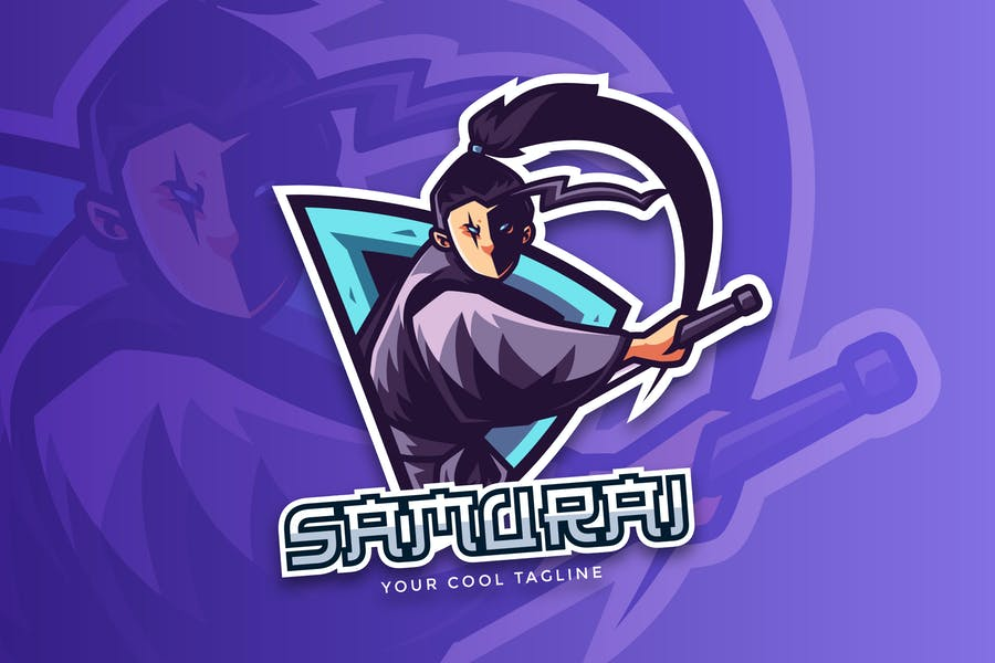 Samurai Sports And Esport Logo Vector Template