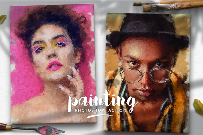 Thumbnail for Painting Photoshop Action