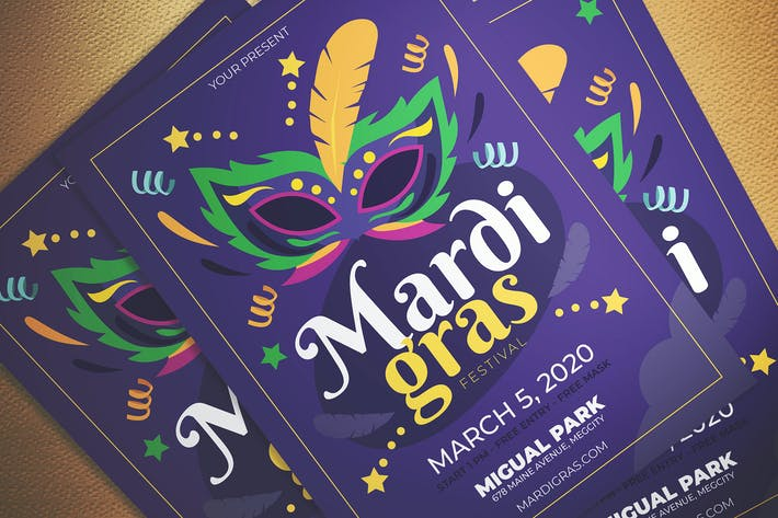 Thumbnail for Mardi Gras Fest Flyer
