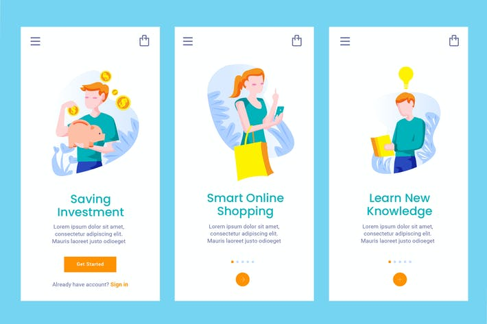Thumbnail for Onboarding Screen For Smart Lifestyle Apps