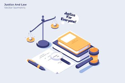 Justiz und Recht - Vektor illustration