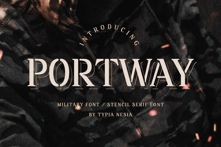Thumbnail for Portway - Military Font