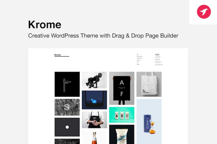 Thumbnail for KROME - Minimal Creative Portfolio WordPress Theme