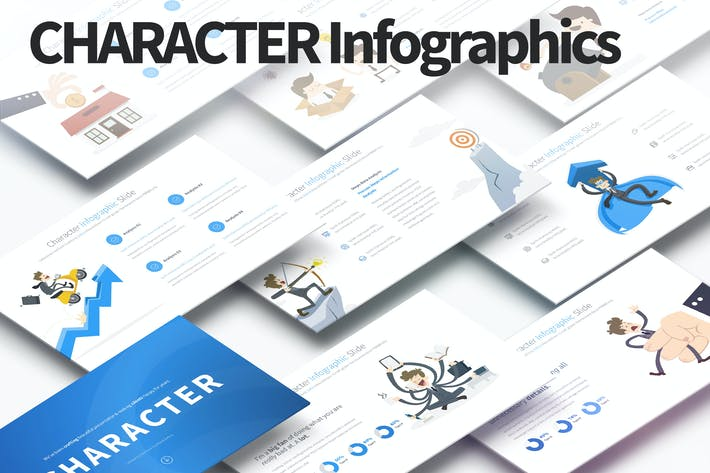 Thumbnail for Character - PowerPoint Infographics Slides