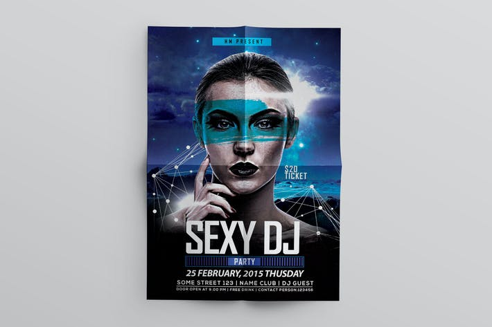 Thumbnail for Dj Music Flyer Template