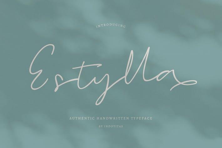 Thumbnail for Estylla Script