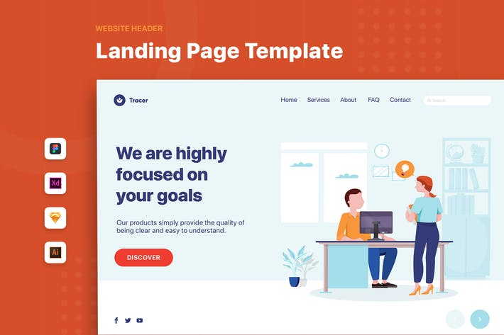 Thumbnail for Boss and Employee -  Web Banner Landing Page