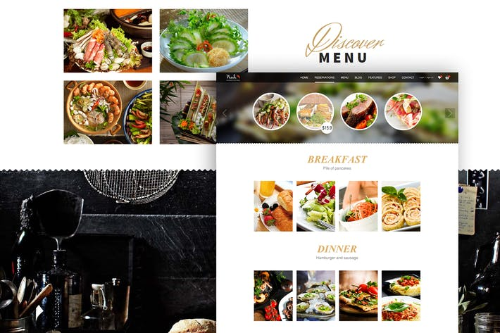 Thumbnail for Food - Web UI Design Concept