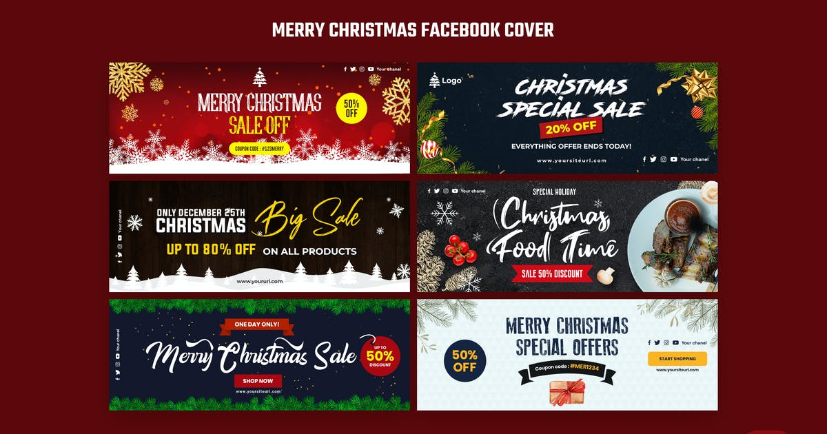 Download Merry Christmas Facebook Cover by iDoodle