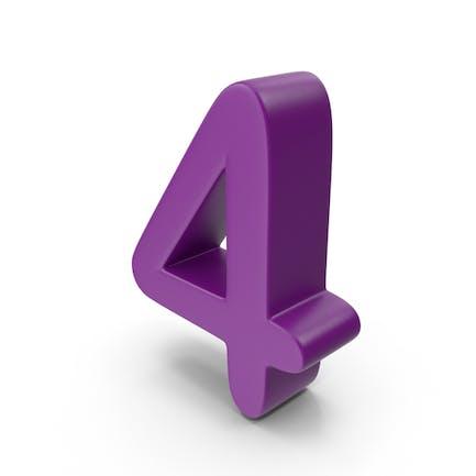 Purple Number 4