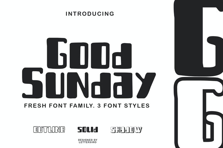 Thumbnail for Good Sunday Layered Font