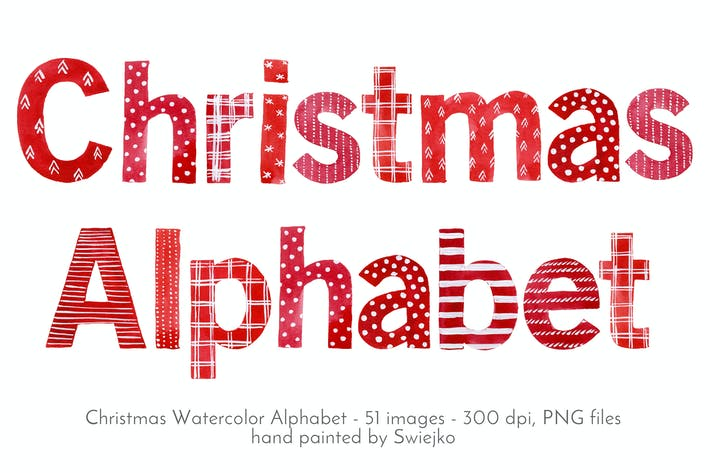 Thumbnail for Watercolor Christmas Alphabet