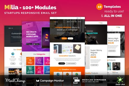 Milia - Responsive Email with 100+ Modules