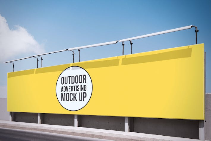 Thumbnail for Outdoor Advertisement Mockup Template #7