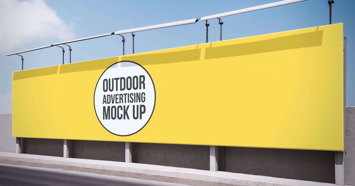 Download Outdoor Advertisement Mockup Template #7 by MockupZone