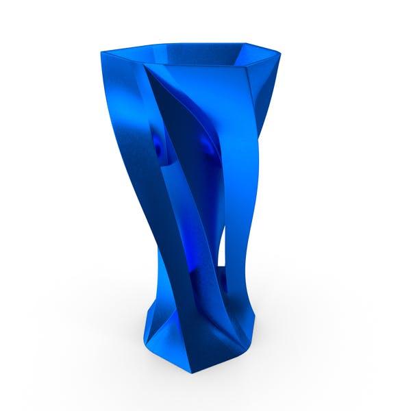 Cover Image for Голубая металлическая ваза