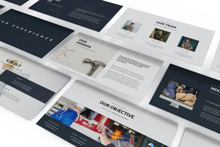 Thumbnail for Keynote Vorlage für moderne Konstruktion