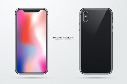 Realistische Vektor -Telefon-Mockup