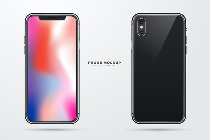 Thumbnail for Realistic Vector Phone Mockup