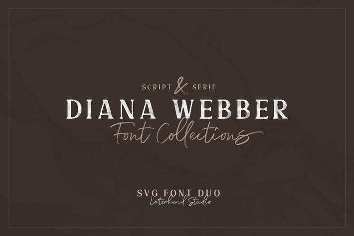 Thumbnail for Diana Webber - SVG Font Duo