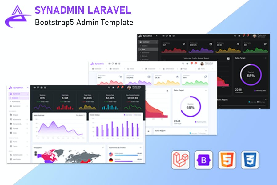 Synadmin - Laravel 8 + Bootstrap 5 Admin Template