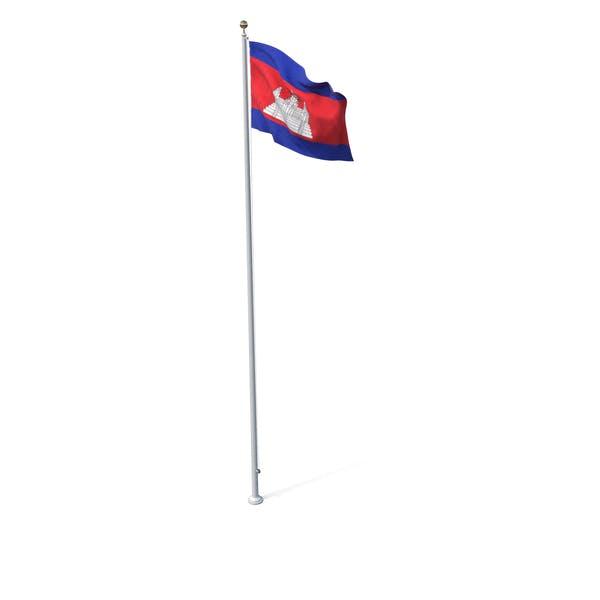 Thumbnail for Flag On Pole Cambodia