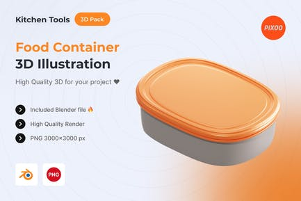 Food Container 3D Kitchen Object