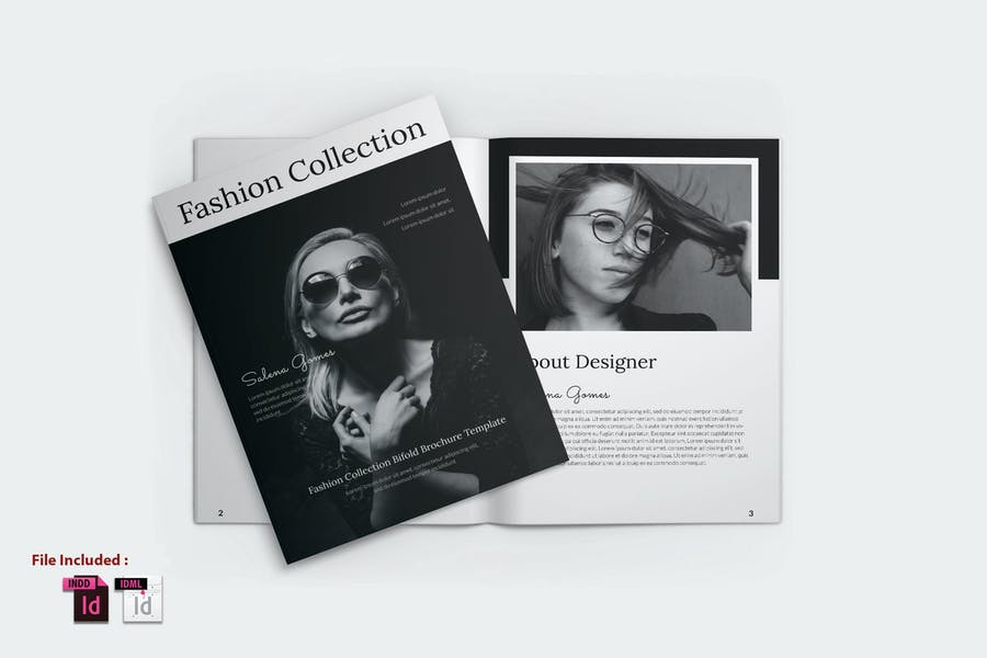 FASHION COLLECTION BIFOLD BROCHURE TEMPLATE