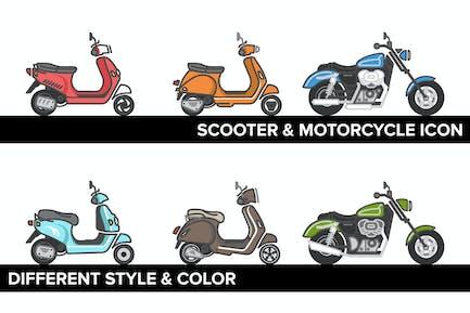 Motorrad-Linear-Symbol