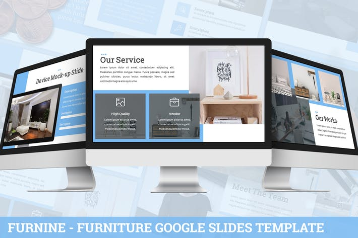 Thumbnail for Furnine - Furniture Google Slides Template
