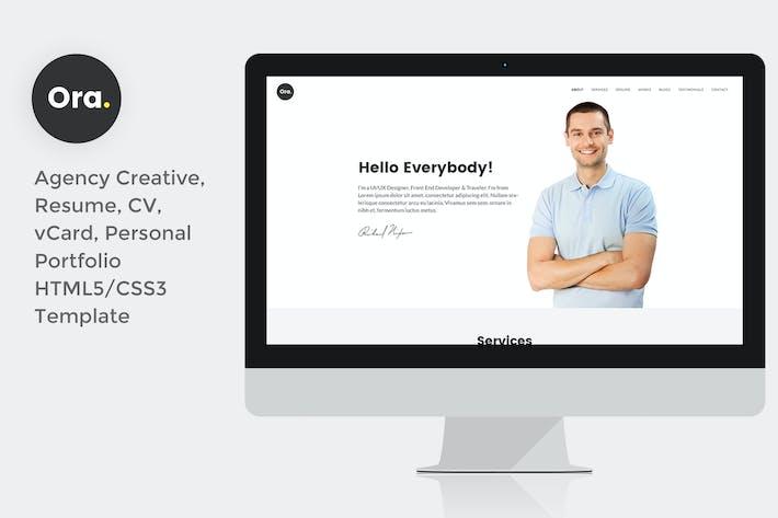 Thumbnail for Ora Resume vCard Personal Portfolio HTML5 Template
