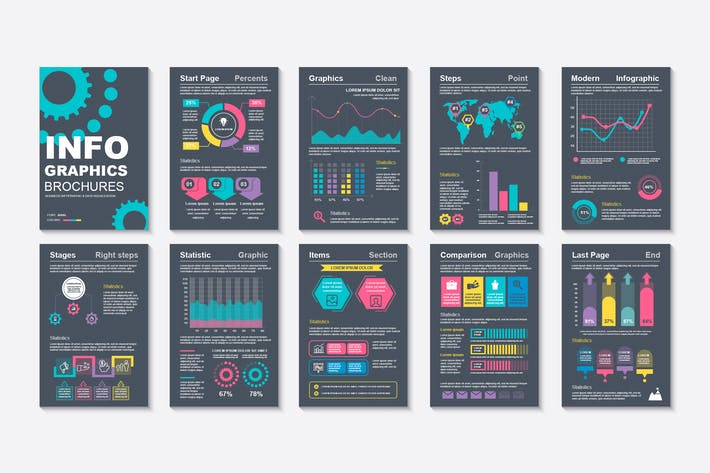 Thumbnail for Визуализация данных инфографической брошюры