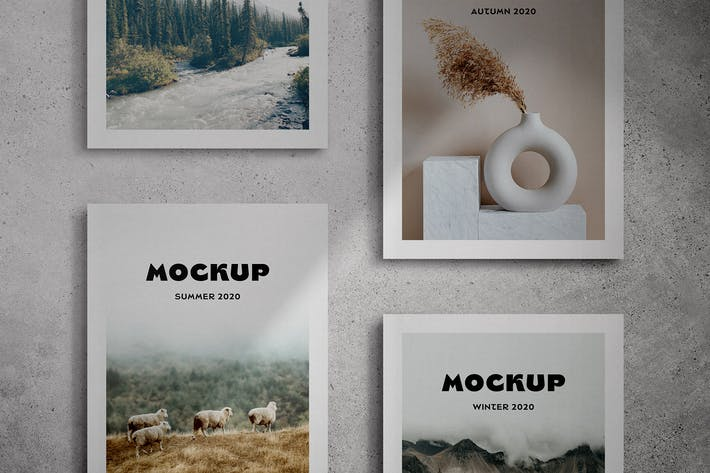 Thumbnail for Magazine Cover Mockup Scenes
