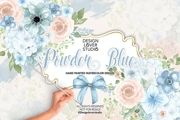 Thumbnail for Watercolor POWDER BLUE design