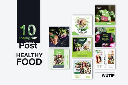 10 Banner Post de Instagram Comida Saludables