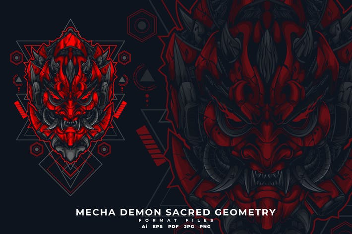 Thumbnail for MECHA DEMON SACRED GEOMETRY