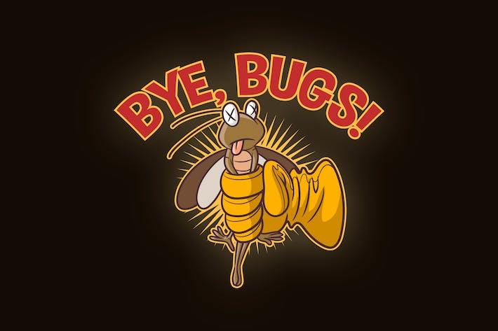 Cover Image For Cartoon Pest Control Mascot Logo