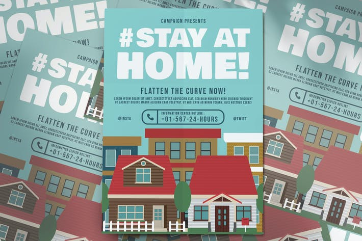 Stay At Home Campaign Flyer