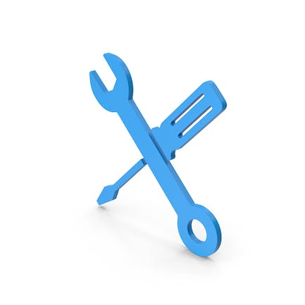 Symbol Screwdriver And Wrench Blue