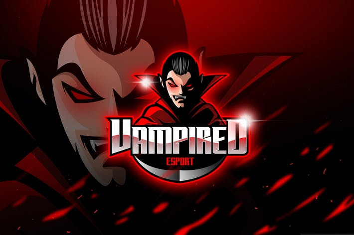 Thumbnail for Vampired - Mascot & Logo Esport