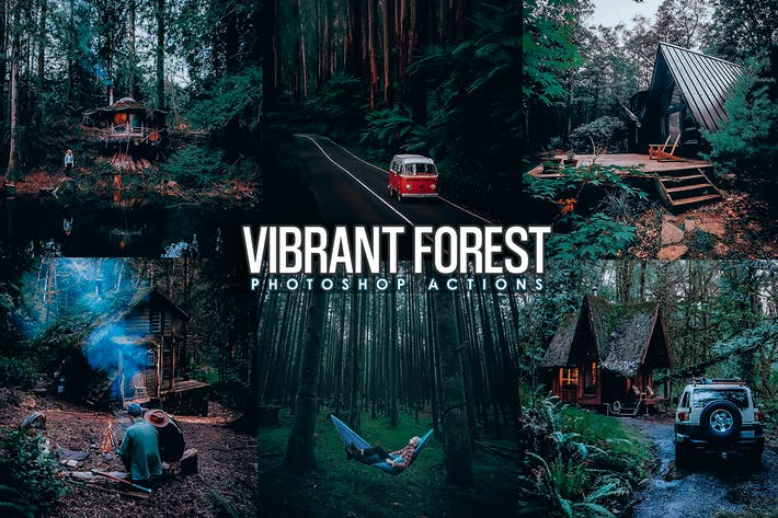 Vibrant Forest Effects Photoshop Actions