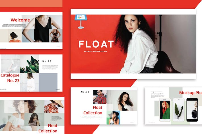 Thumbnail for Float Keynote Template