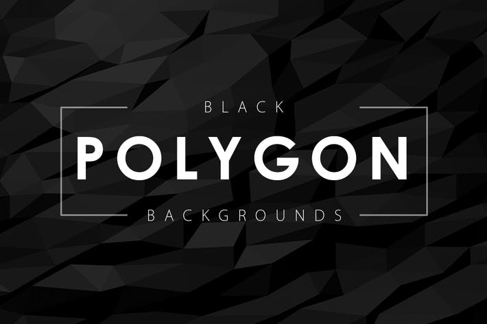Thumbnail for 12 Black Polygon Backgrounds