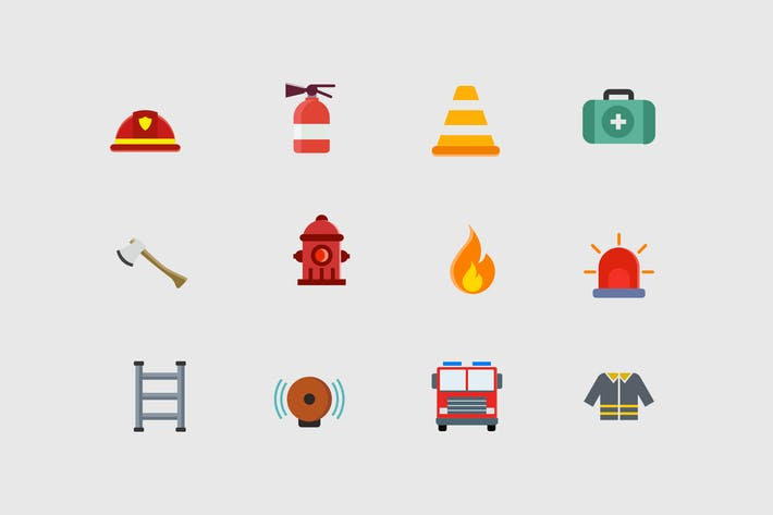 Thumbnail for 12 Firefighter Icons