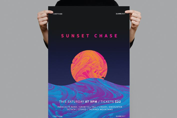 Thumbnail for Sunset Chase Poster / Flyer