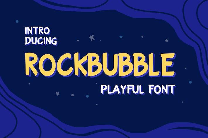 Thumbnail for Rockbubble Sans Serif Font