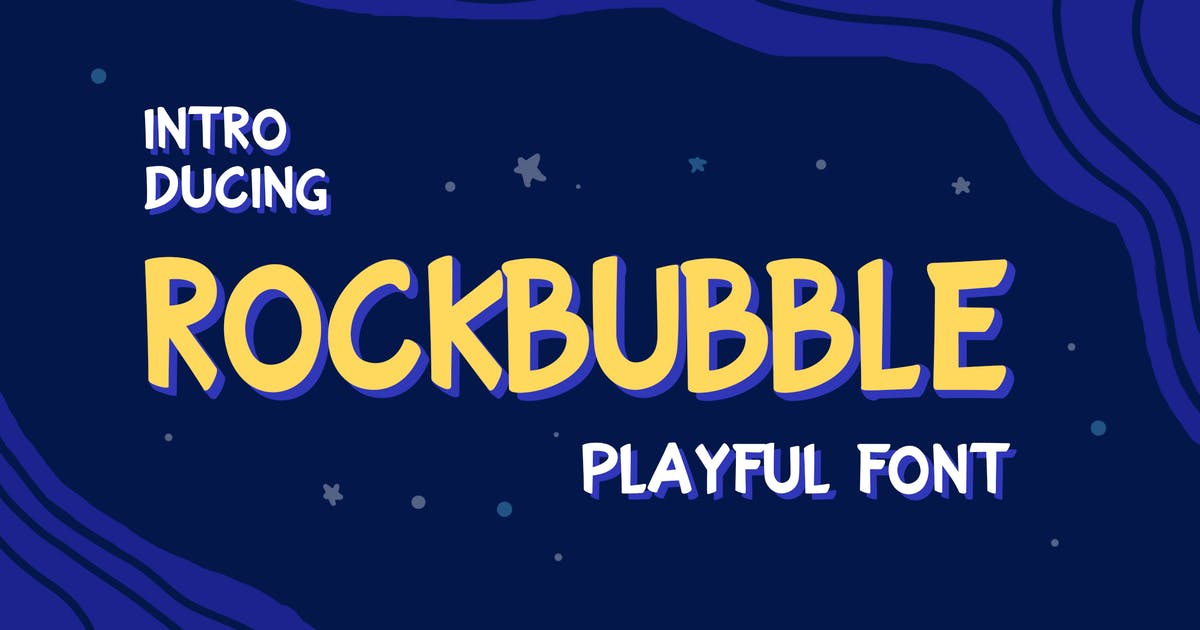 Download Rockbubble Sans Serif Font by uicreativenet
