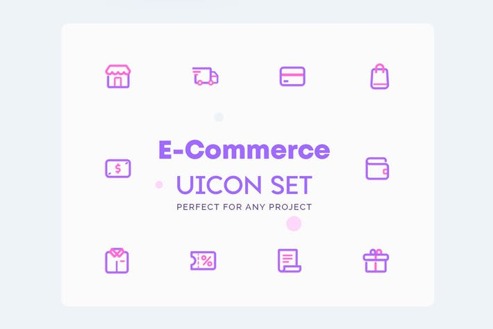 Thumbnail for UICON E-Commerce Online Shop Icons