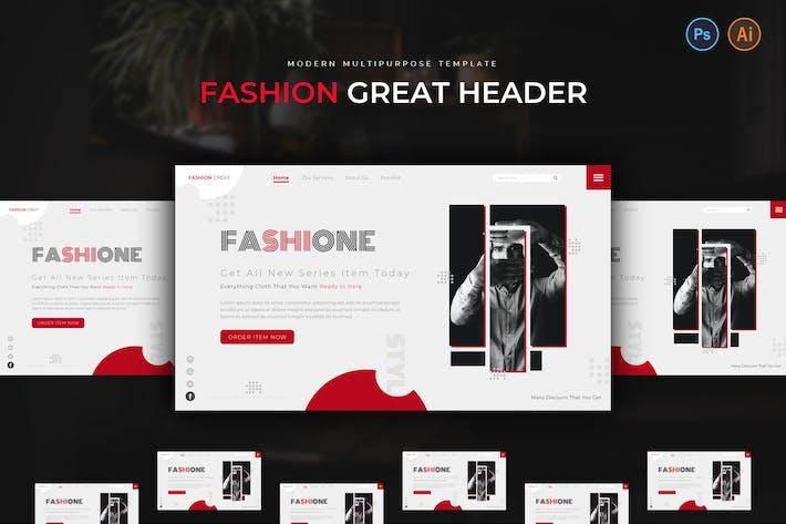 Thumbnail for Fashion Creat Hero Header