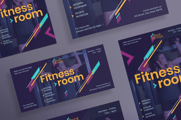 Thumbnail for Fitness Gym Flyer and Poster Template